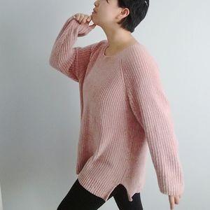 Lane Bryant Pink Chenille Sweater